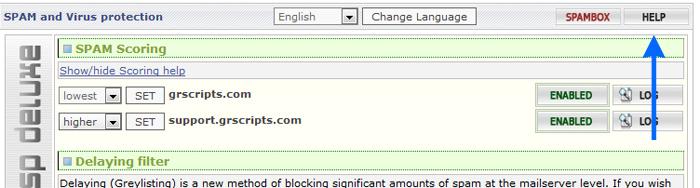 assp help screenshot